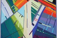 Art quilts / contemporary quilts that appeal to us on the basis of color, design and originality