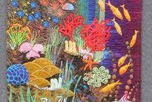 Aquarium & Sea quilts / Underwater, fish, aquarium and ocean quilts