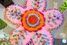 Embroidery on quilts / Embroidery and utility stitching on quilts