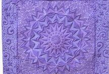 Purple quilts / purple, red-violet, violet, and blue-violet quilts