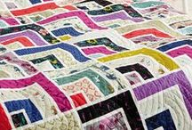 Strip quilts / Also see our Simple Quilts board, http://www.pinterest.com/quiltinspire/simple-quilts/