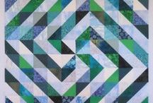 Half Square Triangle Quilts / beautiful quilts made with half-square triangle blocks