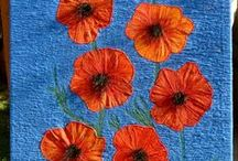 Poppy quilts / Poppy quilts for art and for Remembrance Day