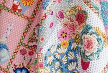 Broderie perse quilts