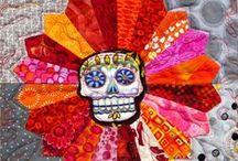 Dia de los Muertos quilts / Quilts, sculptures, and ofrendas (altars)
