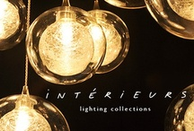 Interieurs lighting collections / A curated collection of unique chandeliers, handblown glass pendants, sconces, lamps, floorplamps.