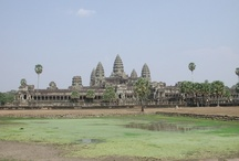 Wanderlust...Cambodia / Angkor Wat in Siem rep , Cambodia dates back to 12th Century and remains the largest religious monument in the world...more than a 100 Khmer stone temples