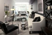 Life in Grey / Design, grey tones, bedroom, living room, furniture, Interieurs, colors wall paint