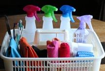 Cleaning / ~ washing, scrubbing, mopping, dusting, mending ~