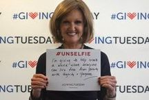 #Unselfies / Join with thousands of individuals and organizations on December 2nd to celebrate #GivingTuesday, an international day dedicated to giving back. Celebrate generosity by giving your time, talent, money or voice--and we're starting by sharing #unselfies.