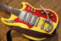 Guitars / Some of the coolest design can be found in guitars, especially in the 60's / by John Alesi