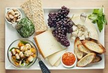 """Edible Art / The """"leftovers"""" board. Poke around my boards for more specific categories of artful dining~lunches, dinners...."""