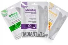 Calcetines cosméticos / Calcetines exfoliantes, relajantes y reparadores