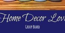 Home Decor Love - Group Board / Home decor ideas and inspiration.  Tips and techniques for home decor upgrades.  Home decor trends. **Please follow my profile & then message me to be added** Keep pins on topic, share other people's pins, and avoid spamming the board - just play nice ;-)