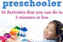 PRESCHOOL ACTIVITIES / Preschool activities showing ways to teach kids, teaching how to read and teaching preschoolers