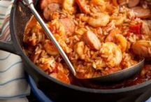 Eat BR - Jambalaya / Another classic Louisiana delicacy is Jambalaya and for good reason! The Louisiana Creole dish of Spanish and French influence combines meat, seafood, rice, spices and vegetables into a one-of-a-kind taste!
