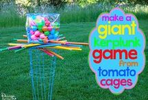 Kid's Events - Giant Games / Giant games for kids to play indoors and outdoors. Almost all are DIY. Can be used for children's ministry outreach events.