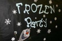 Kid's Events - Frozen Party / Ideas for a themed party for the Disney movie Frozen. Decorations, food, games and crafts. Includes a pin with a Frozen Themed Bible study for children.