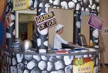 """Kidmin VBS 2014 - """"Knights of God"""" by NextGen / Ideas for medieval themed Vacation Bible School. Knights of God. Similar to Kingdom Rock. Uses Armor of God. Decorating, teaching, crafts and visual ideas."""
