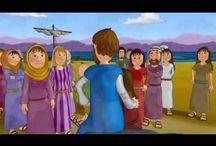 Dibujos animados / Dibujos animados bíblicos, en diferentes idiomas :)