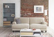 Apartment Casual / This look revolves around an upscaled version of a familiar-shaped, classic sofa, which sits comfortably with the easy-going Elder storage and coffee table.