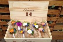 """""""Bout"""" Of Course / Floral boutonnieres created by Embellishmint Floral & Event Design Studio."""