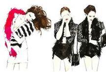 Fashion Illustrations. / by Talya Goldberg