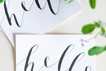 M O D E R N | C A L L I G R A P H Y || 2 / EYI Love now offer personalised modern calligraphy as part of our wedding stationery bespoke product range | SHOP NOW | http://www.eyilove.com