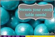 Candy Buffets / Photos of our candy buffets and candy bar inspirations. Candy by color, wedding favor, party favor, sweets tables and more!
