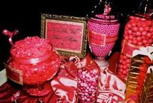 I love me some PINK! / Pink candy and pink accessories.