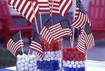 We love the USA! / Patriotic candy and gifts. 4th of July crafts, Celebrate America gifts, red,white, and blue candy and gifts, Memorial Day, Presidents Day, American, USA.