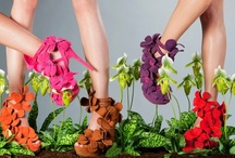 Orchid Shoe by Jan Jansen / This shoe is inspired totally by orchids and has been created in cooperation with Art of Life, comprising 40 pot orchid growers. The orchid can be seen clearly as the source of inspiration not only in the design of the shoe but also in its choice of material. The limited edition shoe will be available from February 2013.