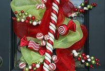 Holiday decor for your DOOR! / make WREATHS!!! / by Jane Rausch