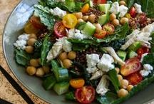 Salads / Savory Salad recipes with lots of fresh vegetables