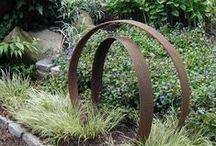 Gardening with Found Objects / A garden isn't a garden without a few repurposed rusty pieces nestled in and around!
