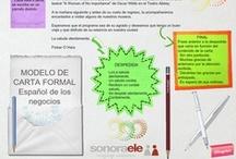 Taller de escritura / Tablero con ejercicios de redacción, composición y escritura creativa para estudiantes de español como lengua extranjera.
