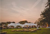 Outdoor Wedding Inspiration / Outdoor weddings including marquee parties, humanist ceremonies, woodland hand fastening & riverside drinks. Looking at outdoor setting, party ideas, styling and ceremony spaces.