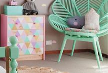 Kids Bedrooms, Playrooms & Children's Fashion / Cool, colourful, kid rooms perfect for quirky children. Room inspiration, cool independent fashion brands and kid storage ideas