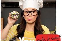 Rosanna Pansino / Queen of Nerdy Nummies turns all of your favorite movies, video games, and everyday-nerdy into delicious treats.  Making it sweet to be yourself: YouTube.com/Rosanna Pansino / by YouTube