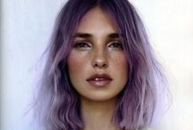 Creative Hair Ideas and Styling / Hair colouring, hair chalks, curling hair, hair up, red heads, boho styling