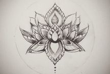 Lotus flower ink design