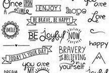 lettering and doodling