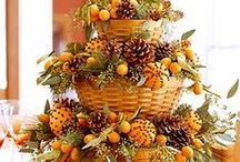 FALL DECORATING FUN / These are ideas I've found that are natural, beautiful and oh so FALL !!!