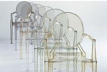 chairs - white, black, brown, gray / cadeiras - brancas, pretas, marrom, cinza / by Analuiza Camargo