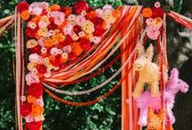 Bohemian Mexican Wedding / Inspiration board for my fair booth. We're going to the fair, to see a senorita with flowers in her hair....:)