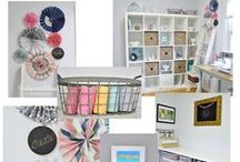 Craft Rooms & Offices / All about craft spaces and offices! / by Linda (burlap+blue)