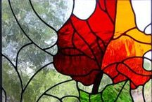 Stained glass  / Stained and colored glass window designs  / by Kathleen Dallara