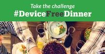 #DeviceFreeDinner / When you have family dinner, commit to putting devices away for those 30 minutes (or, if you have small children, those 6 minutes!) Put your devices on silent. Better yet, put them somewhere where you can't see them and where a notification won't tempt you. Enjoy a device-free dinner as part of a healthy digital lifestyle, and make the most of family time!
