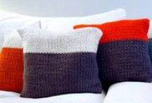 KNITS FOR A COZY HOME / Beautiful knits interiors, blankets, throws, cushions… <3
