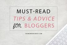BLOGGING TIPS / Advice and how-to's for bloggers!